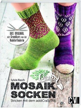 Mosaik Socken - Stricken mit dem addiCraSyTrio