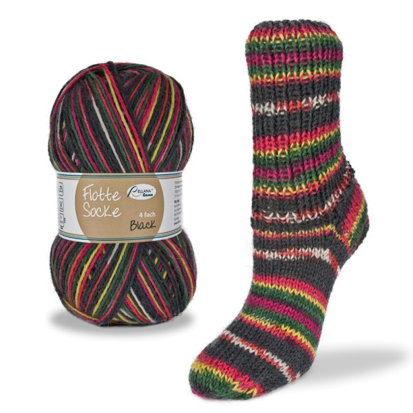 Flotte Socke 4f. Black