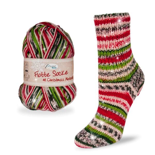 Flotte Socke 4f. Christmas Metallic