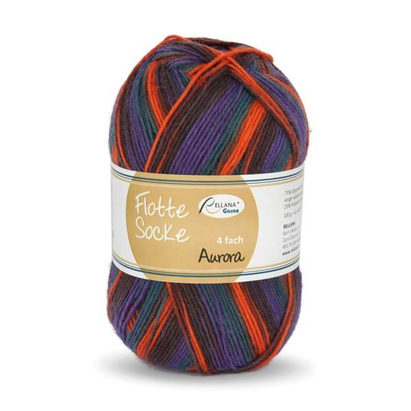 Flotte Socke 4f. Aurora