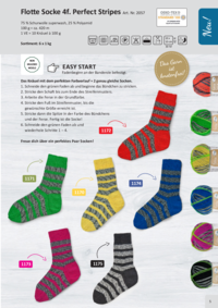 Farbkarte | Flotte Socke Perfect Stripes
