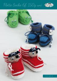 59 Flotte Socke 6f. 150 g uni Babyschuhe