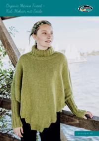 412 Organic Merino Tweed + Kid-Mohair mit Seide | Ponchopulli